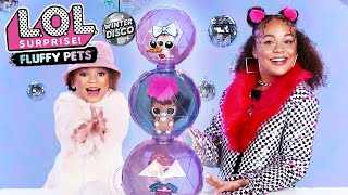 UNBOXED! | LOL Surprise! Winter Disco Glitter Globe, Fluffy Pets and Lils | Season 4 Episode 12
