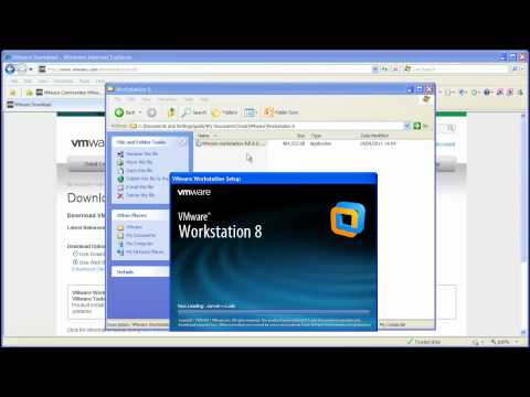 Downloading and installing VMware Workstation 8 on a Windows based system