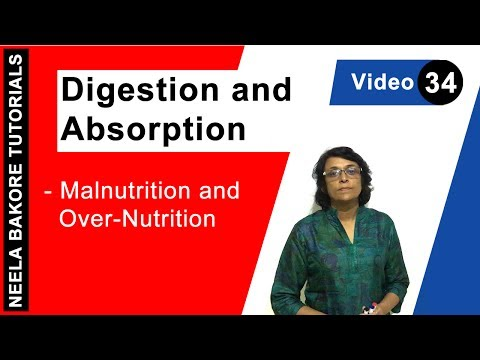 Digestion and Absorption Malnutrition and Over Nutrition