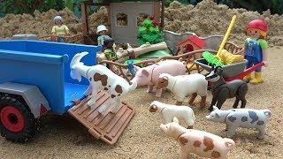 Animals transporter Truck - Playmobil Toys Children's Petting Zoo thumbnail
