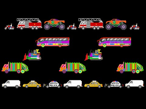 Vehicle Patterns 4 - ABC Patterns with Street & Railway Vehicles - The Kids