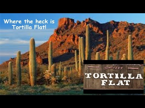 A Drones look at Tortilla Flat, AZ