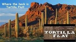 A Drones look at Tortilla Flat, AZ