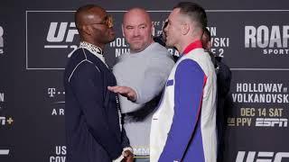UFC 245: Kamaru Usman vs. Colby Covington Media Day Staredown - MMA Fighting