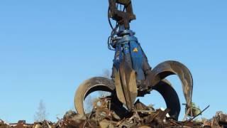 Сдать металлолом Донецк(Видео ролик погрузки металлолома нашим манипулятором в Донецке. Прием , вывоз, демонтажные работы - Донецк...., 2016-08-04T15:07:38.000Z)