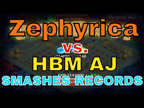 Castle Clash Zephyrica Vs. HBM AJ Smashes Records