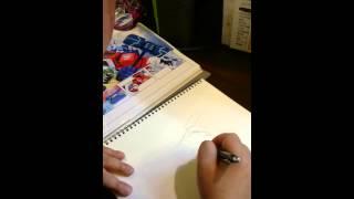 津島直人先生にアニメイテッドのオプティマスを描いていただきました!