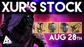 destiny xur location exotic armor and weapons breakdown   xur august 28th