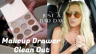 A No Good Bad Day Vlog~Makeup Drawer Clean Out