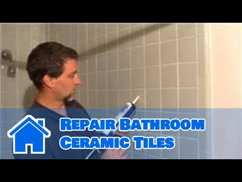 Bathroom Ceramic Tile : How To Repair Bathroom Ceramic Tiles   YouTube Part 90