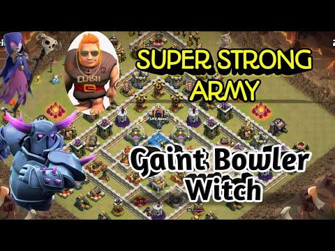 100% Easy play. Max Gaint Witch Bowler th12 3 star war attack strategy 2019. Coc