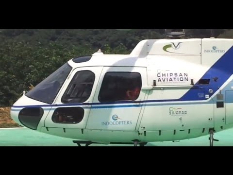 SABARIMALA HELICOPTER LANDING  KERALA - Chipsan Aviation