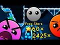 60 Free Stars! 2425 Orbs! Geometry Dash