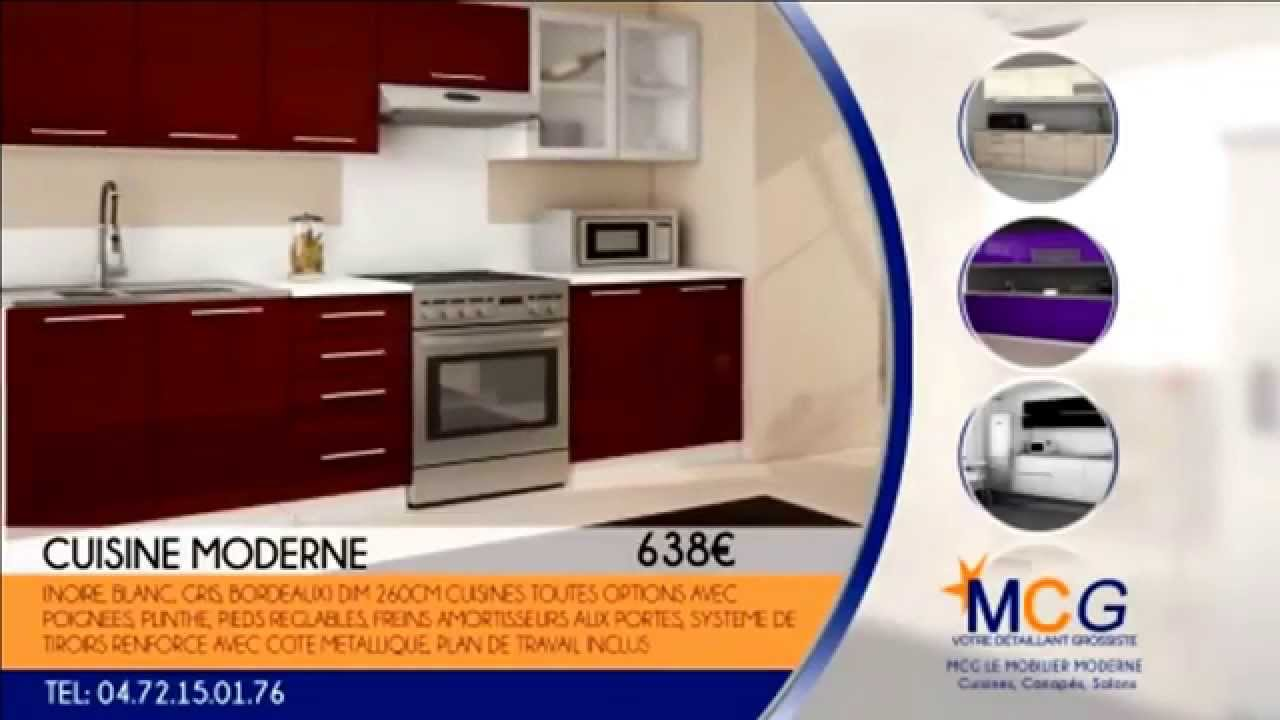 cuisine lyon cuisiniste pas cher lyon par mcg meuble cuisine youtube. Black Bedroom Furniture Sets. Home Design Ideas