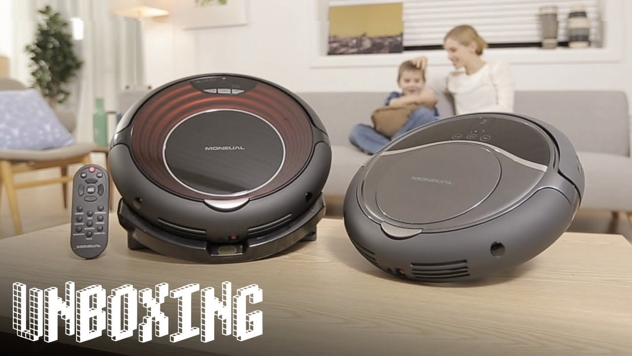 moneual me770 style saug und wisch roboter im unboxing youtube. Black Bedroom Furniture Sets. Home Design Ideas