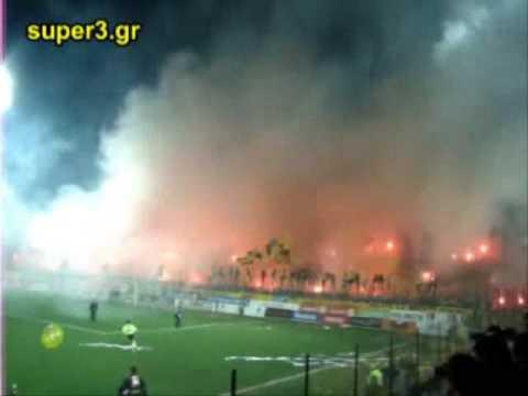 VOLCANO ERRUPTION IN GREEK FOOTBALL STADIUM!!! UNBELIEVABLE!!!