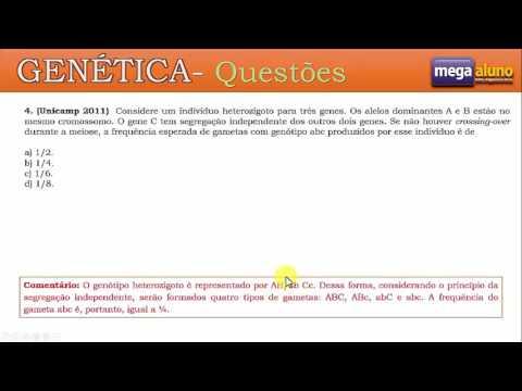 Questões de genética - Linkage