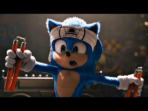 Cоник дразнит шерифа. \ Соник в кино Sonic The Hedgehog