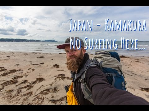 Sleeping near Cemetery, Surfing prices, no waves for surfing in Kamakura Japan | Follow Mike.