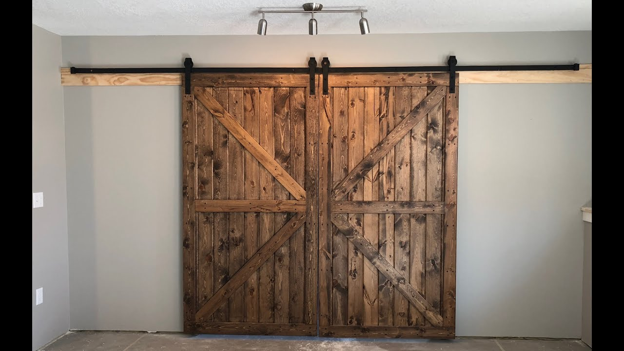 Building Interior Rustic Barn Doors On A Budget Diy How To