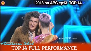 """Cade Foehner sings """"Black Magic Woman"""" KATY GETS LOCK OF HIS HAIR American Idol 2018 Top 14"""