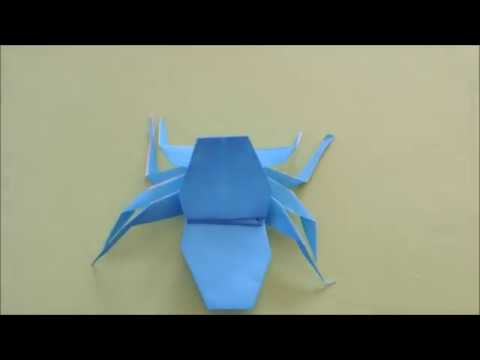 簡単 折り紙 折り紙 蜘蛛 : edizon.net