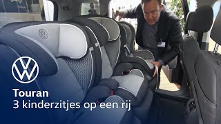 De Volkswagen Touran: 3 kinderzitjes op een rij!