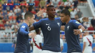World Cup 2018 - France vs Peru - Group C Full Match Sim (FIFA 18)
