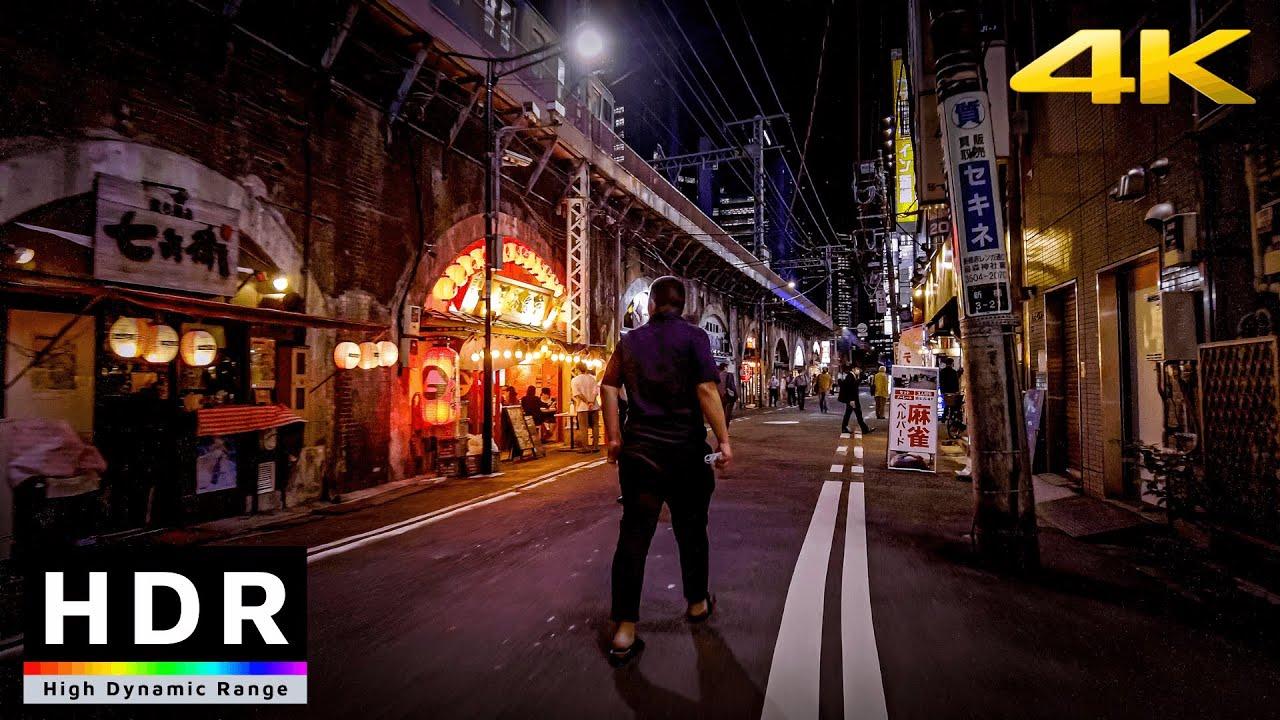 【4K HDR】Monday nights in Tokyo - Shimbashi - Akasaka-mitsuke - Yotsuya