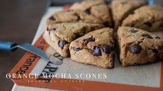 Orange Mocha Scones (vegan GF) ☆ オレンジモカスコーンの作り方