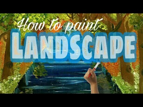 How to paint landscape with oil paint/Oil painting technique/Easy tips & tricks to paint a landscape