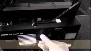 SUPER 8 Filmprojektor - Revue lux sound 80 STEREO - Bedienung