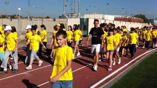Vuelta de honor XIX Olimpiadas Escolares Solidarias San Fernando de Henares