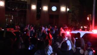 Albuquerque Trump Rally 2016 Protesters Jumping on Police Cruisers
