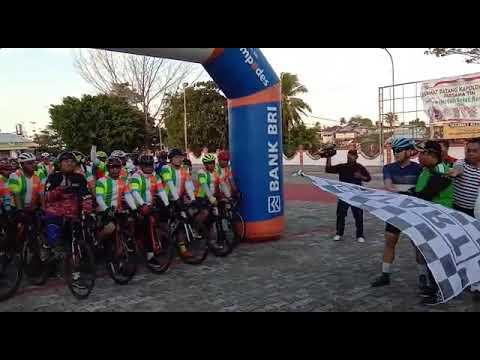 Walikota Tual Lepas Rely Sepeda Kapolda Maluku