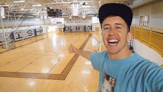SNEAKING into my old HIGH SCHOOL!!