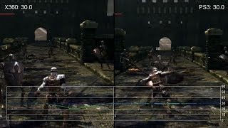 Dark Souls 1 Xbox 360 vs. PS3 Gameplay Frame-Rate Tests