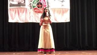 Akila Singing at New England Tamil Sangam