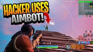 Hacker GIVES Himself AIMBOT and CHEATS in a PUBLIC Fortnite Match... (BANNED)