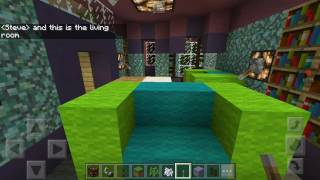 Minecraft Nostalgic World-Big Blue House and Start of Woodland Valley [4]