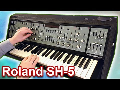 ROLAND SH-5 - Analog Synth Demo | Sounds & Patches