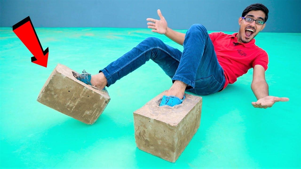We Made Concrete Shoes | क्या मैं सीमेंट के जूते पहन कर चल पाउँगा? Very Heavy