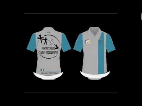 a2c85f74b3 Modelo de Camisa Uniforme Listra Única vertical logo nas costas para Clube  de Jovens Adventista - YouTube