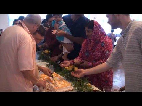 Giriraj Swami Vyas Puja - BONUS: Cake Distribution