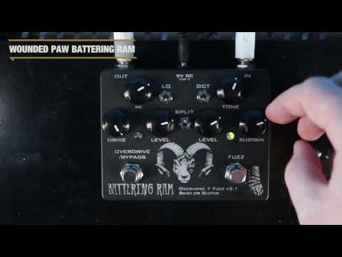 Wounded Paw Battering Ram Fuzz Pedal | GEAR GODS