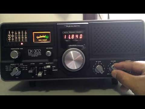 Vintage Radio Shack Realistic DX-302 - Shortwave broadcast of Radio Havana Cuba @ 11840 kHz