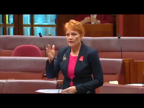 STOP MASS MIGRATION |  Pauline Hanson Senate Speech