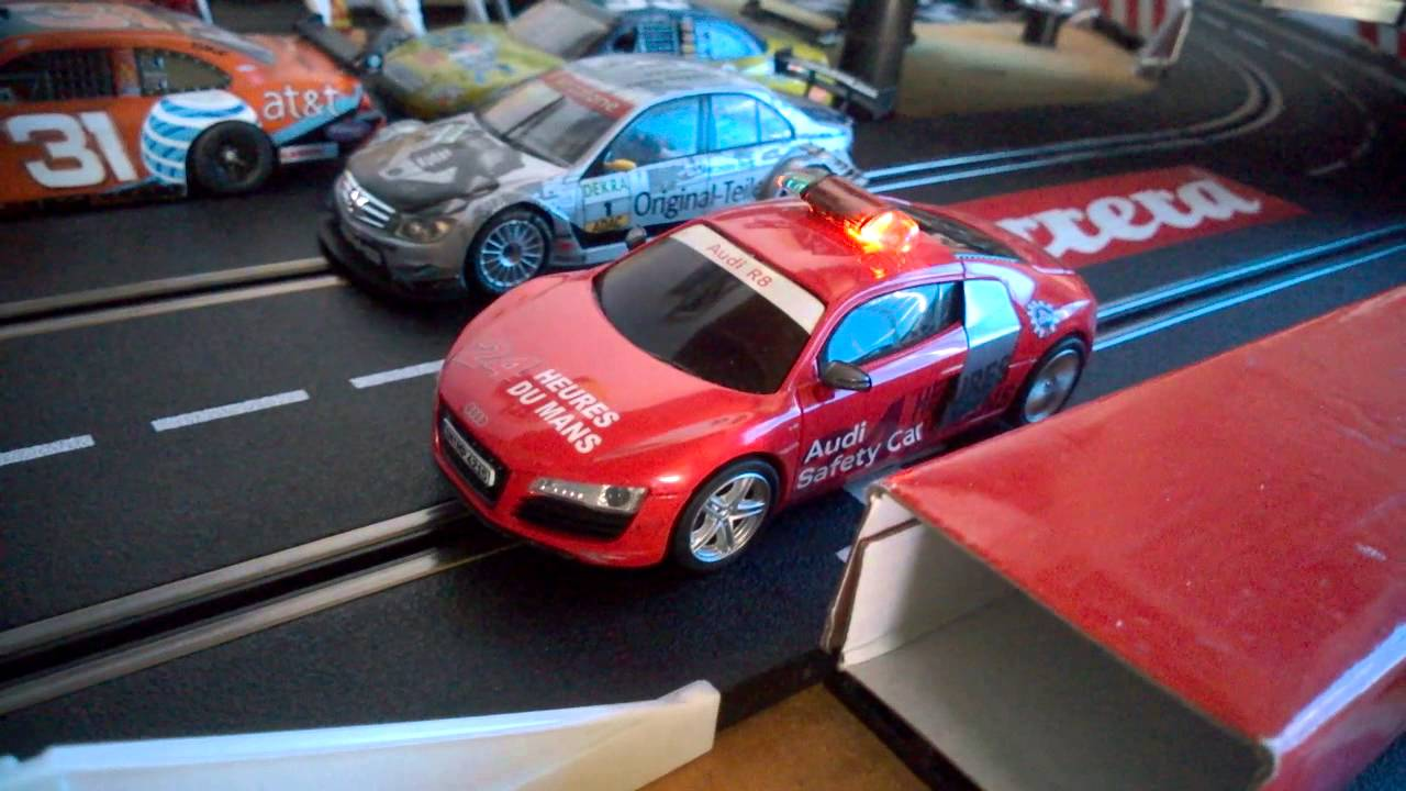 Audi R8 Le Mans Safety Car Slot Car Colombia Youtube