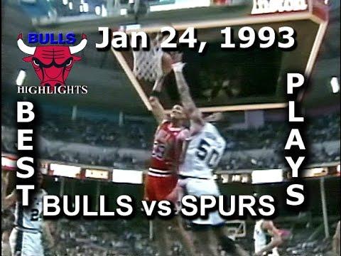 Jan 24, 1993 Bulls vs Spurs highlights