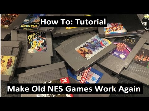 Get Your Old NES Games Working Again - Tutorial - How to Clean NES Games